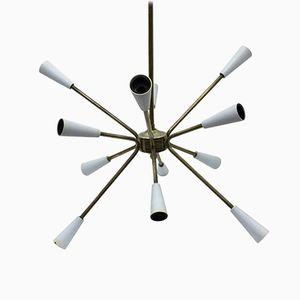 Mid-Century Modern Brass Sputnik Chandelier, 1960s