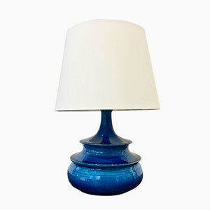 Danish Turquoise Glazed Table Lamp by Nils Kähler, 1960s