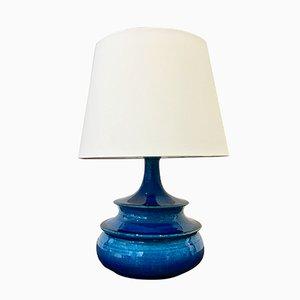 Lámpara de mesa danesa esmaltada en turquesa de Nils Kähler, años 60