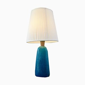 Mid-Century Turquoise Table Lamp by Nils Kähler, 1950s