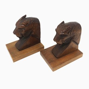 Art Deco Panther Bookends, 1930s, Set of 2