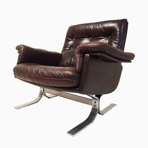 Leather Lounge Chair by Ebbe Gehl & Søren Nissen for Vatne Møbler, 1970s