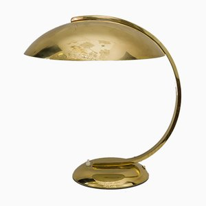 Art Deco Messing Tischlampe, 1930er