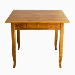 Small Biedermeier Side Table in Softwood, 1830s