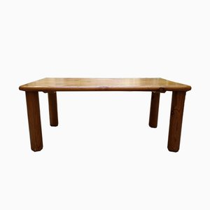 Mid-Century Pine Les Arcs Coffee Table by Charlotte Perriand