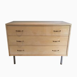 French Chest of Drawers with Steel Feet, 1970s