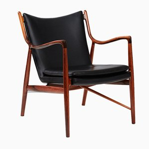 Vintage Model FJ-45 Chair by Finn Juhl for Niels Vodder