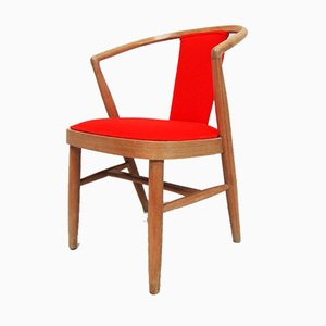 Vintage Danish Bent Oak Side Chair
