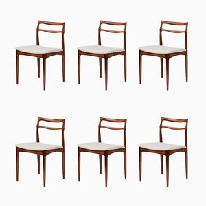 Chaises de Salon en Palissandre par Johannes Andersen pour Christian Linnerberg, 1960s, Set de 6