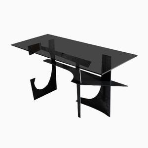 Stahl & Rauchglas Schreibtisch im brutalistischen Stil von Edizione Flair, 2018