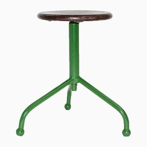 3-Legged Adjustable Industry Stool, 1950s