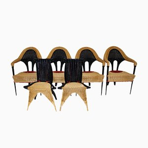 Wicker Chairs by Borek Sipek for Driade, 1988, Set of 6