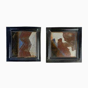 Keramik Tabletts von Jean Cacheleux, 1980er, 2er Set