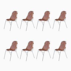 Les Arcs Stühle von Charlotte Perriand, 1973, 8er Set