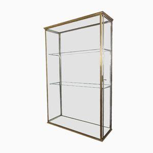 Antique Brass Display Cabinet
