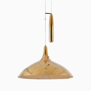 A1965 Brass Counter Weight Pendant by Paavo Tynell for Taito Oy, 1950s