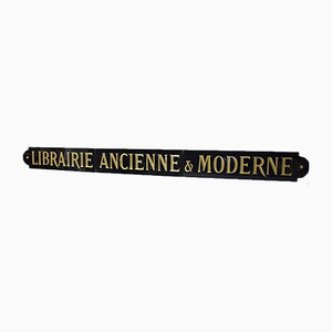 Antique French Library Sign by J. Quenaud
