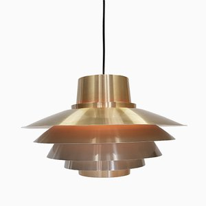 Brassed Verona Pendant Light by Svend Middelboe for Nordisk Solar, 1970s