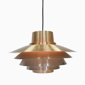 Lámpara colgante Verona de latón de Svend Middelboe para Nordisk Solar, años 70