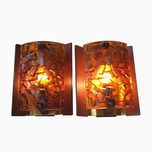 Danish Modern Brutalist Sconces by Vitrika, 1960s, Set of 2