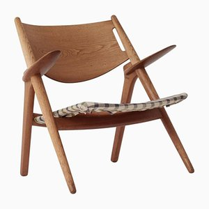 CH28 Oak Sawbuck Armchair by Hans Wegner, 1950s