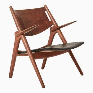 Sedia CH28 Sawbuck di Hans Wegner, anni '50
