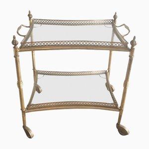 Carrito francés estilo neoclásico de latón, años 40
