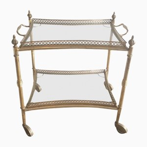 French Neoclassical Style Brass Trolley, 1940s