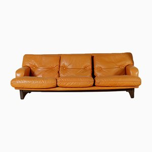 Leather & Foam Padding Sofa, 1960s