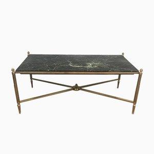 Table Basse en Bronze et Laiton avec Plateau en Marbre Vert de Maison Bagués, 1940s