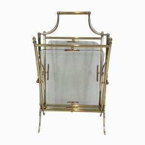 Table Pliable de Style Néoclassique en Laiton, Acajou et Faux Bambou de Maison Jansen, 1940s