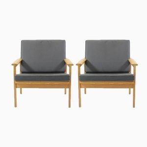 Danish Capella Lounge Chairs in Oak by Illum Wikkelsø for N. Eilersen, 1960s, Set of 2