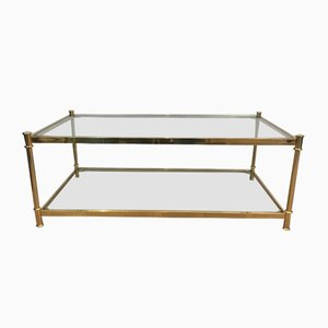 Gilt Brass Coffee Table from Valenti, 1970s