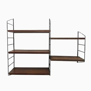 "5-Shelf Wall Unit by Kajsa & Nils ""Nisse"" Strinning for String, 1950s"