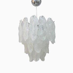 Lámpara de araña grande de cristal de Murano, años 60