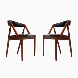 Model 31 A-Frame Dining Chairs by Kai Kristiansen for Schou Andersen, 1960s, Set of 2