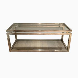 Grande Table Console Moderne en Chrome, 1970s