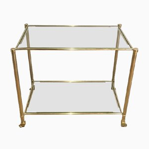 Small Brass Console with Claw Feet by Guy Lefèvre for Maison Jansen, 1960s