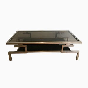 Table Basse Moderniste en Chrome, 1970s