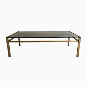 Table Basse Moderniste en Laiton, 1970s