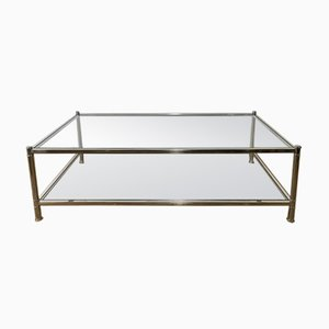 Large Chromed Coffee Table from Roche Bobois, 1970s
