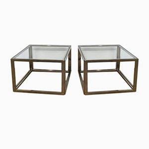 Chrome Side Tables, 1970s, Set of 2