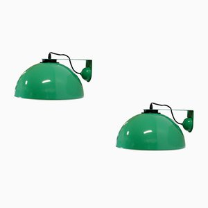 Mid-Century Wall Lights in Aluminum from Dalca, 1970s, Set of 2