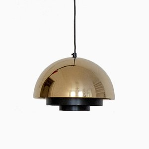 Milieu Golden Line 24-Carat Gold-Plated Ceiling Lamp by Jo Hammerborg for Fog & Mørup, 1970s