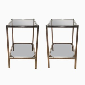 Chromed Side Tables, 1970s, Set of 2