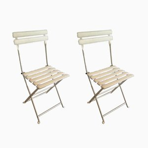Leatherette & Metal Folding Chairs from Zanotta, 1970s, Set of 2