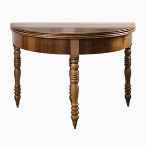19th Century Biedermeier Demi-Lune Cherrywood Table