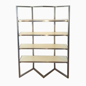 Chromed & White-Lacquered Shelves, 1970s