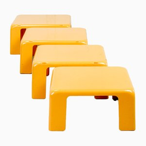 Quattro Gatti Side Tables by Mario Bellini for C&B Italia, 1960s, Set of 4