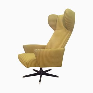 Super Velur Swivel Lounge Chair from Dřevotvar Pardubice, 1982